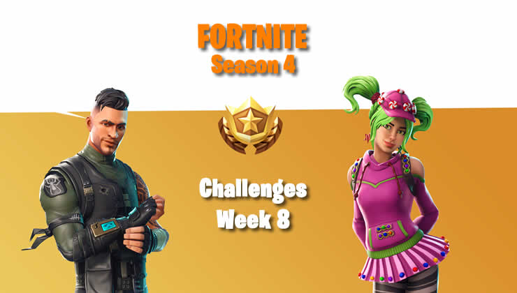 Fortnite: Week 8 Season 4 – All Challenges and Guides