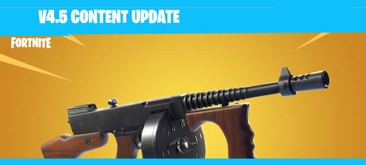 Fortnite: Content Update 4.5 released – Drum Gun and more