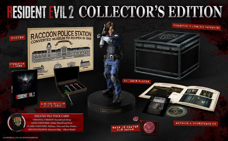 Resident Evil 2: Capcom announces Physical Collector's Edition