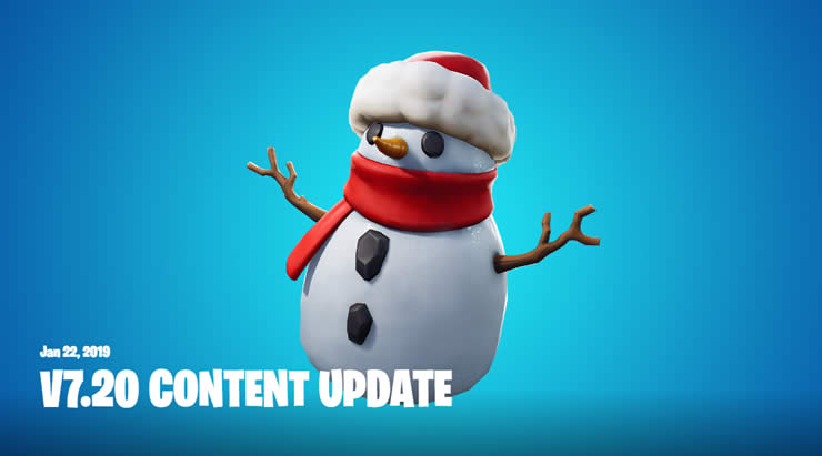 Fortnite Patch Notes for content update 7.20 – January 22
