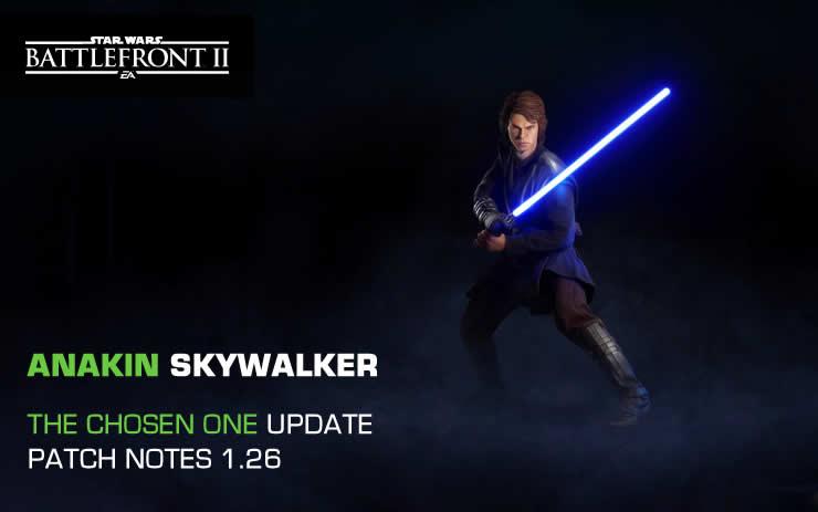 Star Wars Battlefront 2: Patch Notes 1.26 – Chosen One Update
