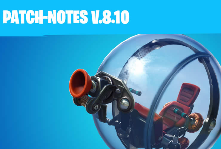Fortnite Update 8.10 – Patch Notes 2.08 released