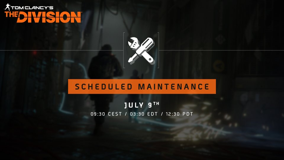 The Division 2: Server Down on July 9th – Maintenance