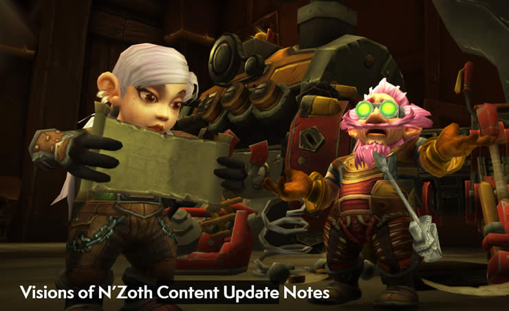World of Warcraft Patch Notes 8.3 – Visions of N'Zoth Content Update