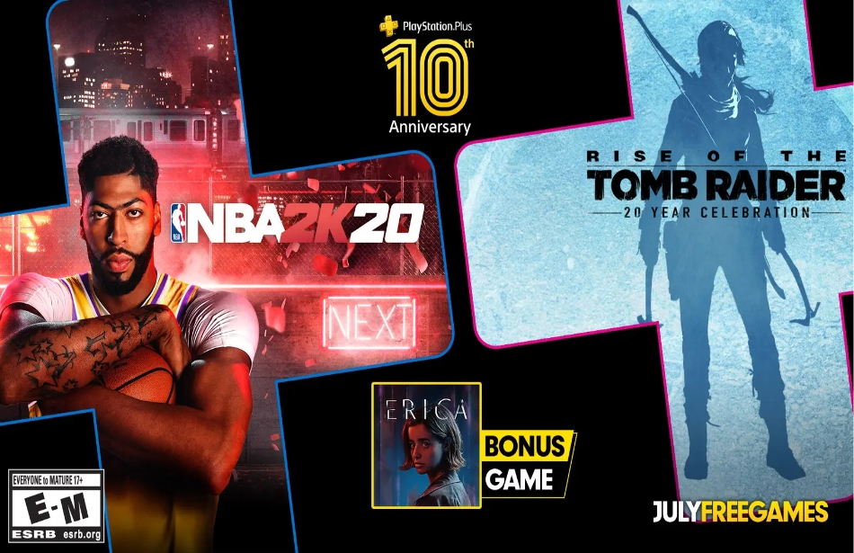 PlayStation Plus: Celebrates 10th anniversary with three free games in July
