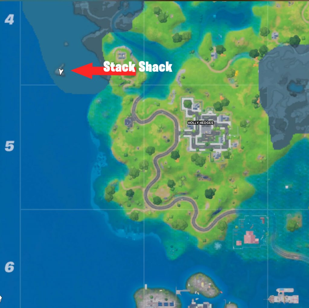 Stack Shack Location Map Fortnite