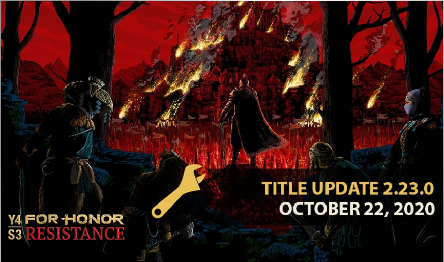 For Honor Title Update 2.23 Patch Notes on October 22