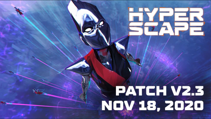 Hyper Scape Update 1.23 Patch Notes on November 18
