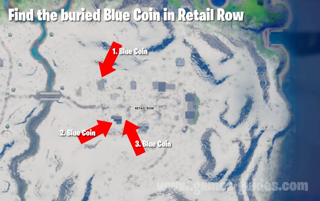 Fortnite Buried Blue Coins Map
