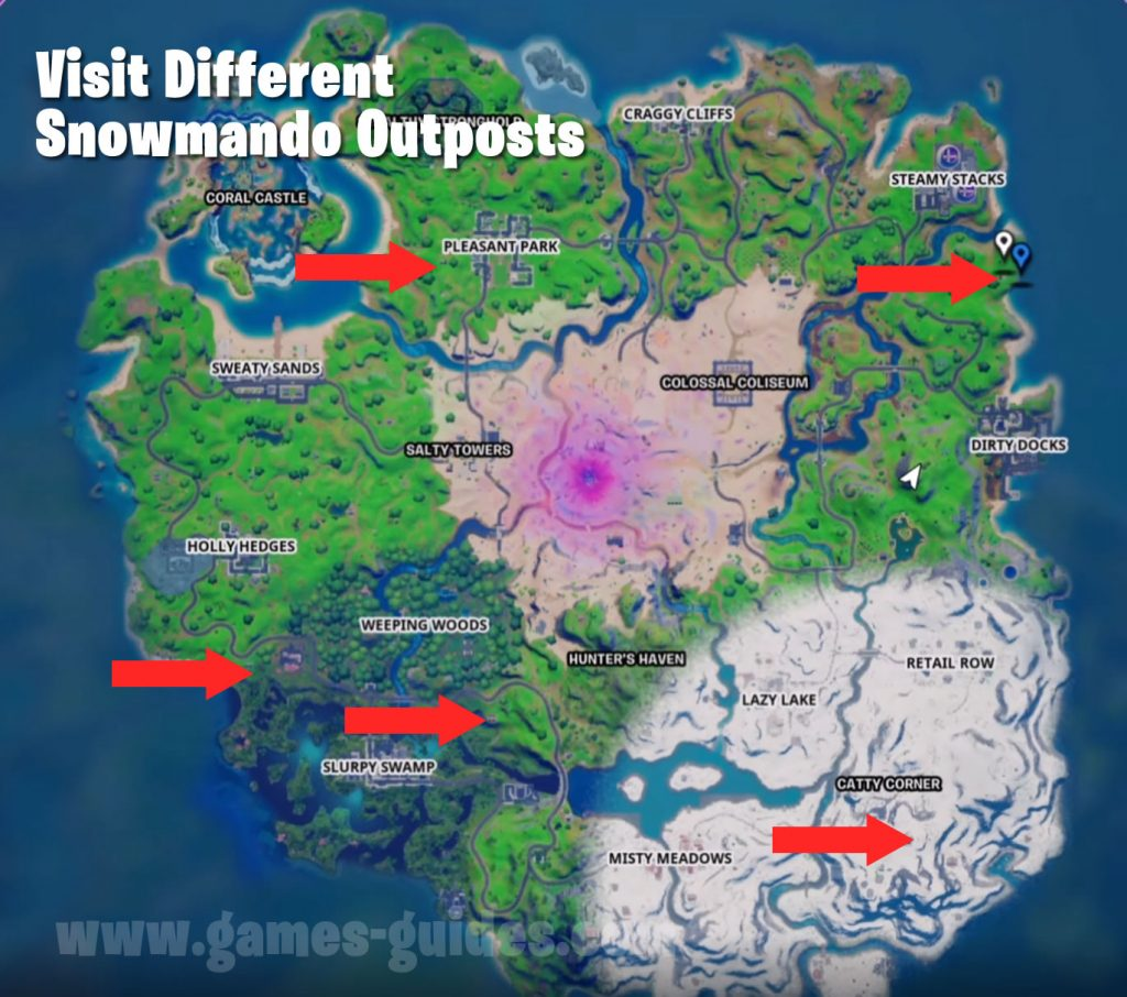 Snowmando Outposts Locations Map