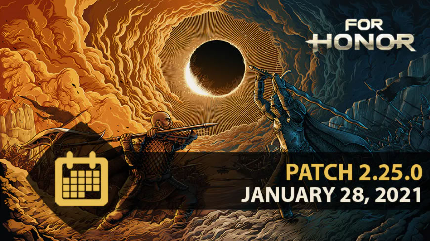 For Honor Update 2.25 Patch Notes on January 28