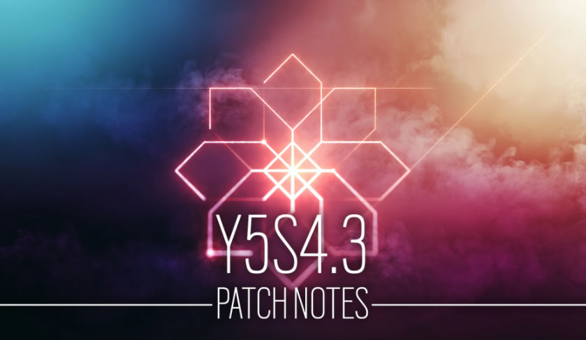 Rainbow Six Siege Update 2.01 – Patch Notes Y5S4.3