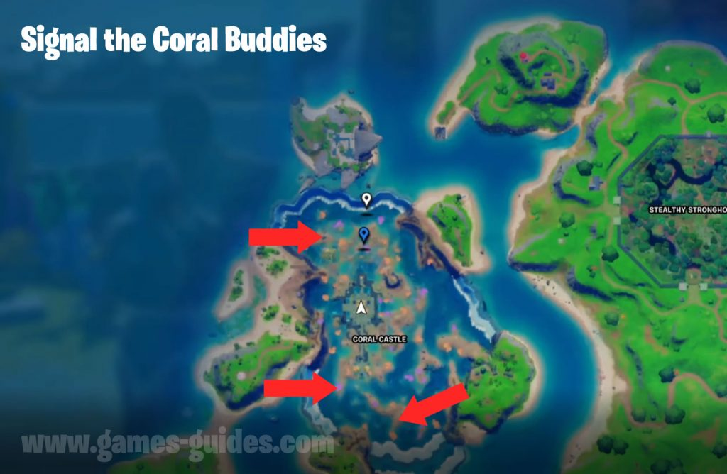 Signal Coral Buddies Map