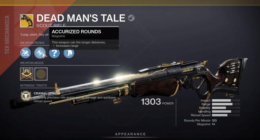 Dead Mans Tale Exotic Rifle