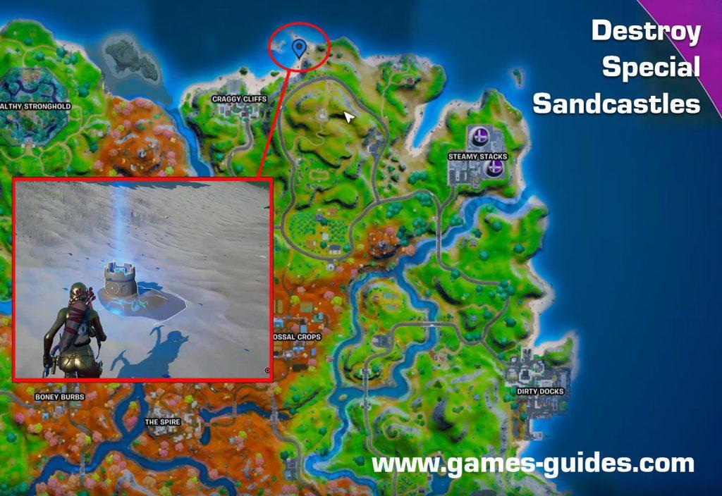Fortnite Destroy Sandcastles Map