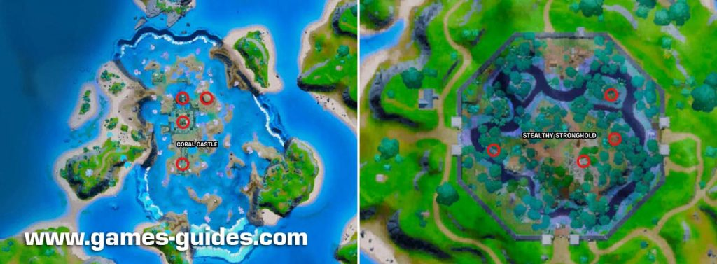 Artifacts Location Fortnite Map