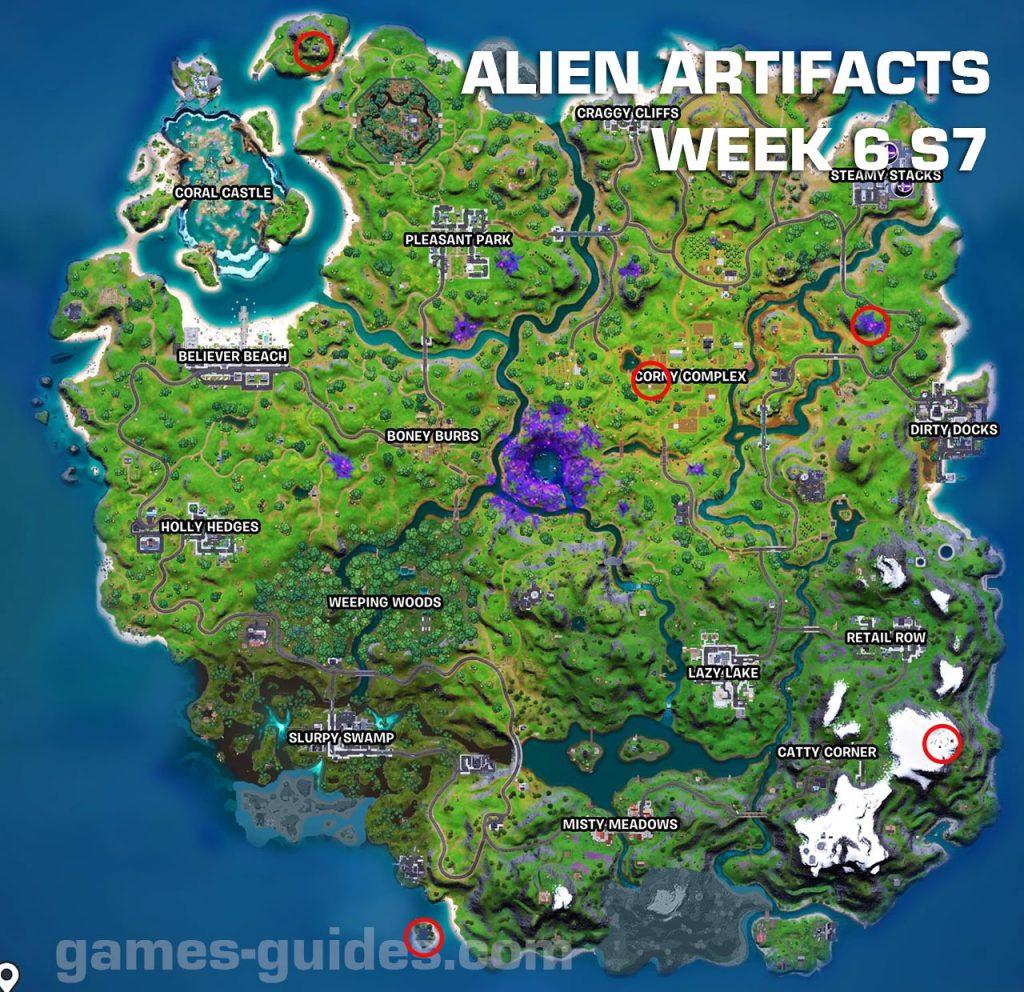 Alien Artifacts Week 6 Map