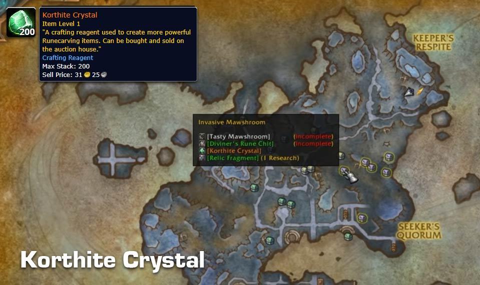 Korthite Crystal Farming Guide